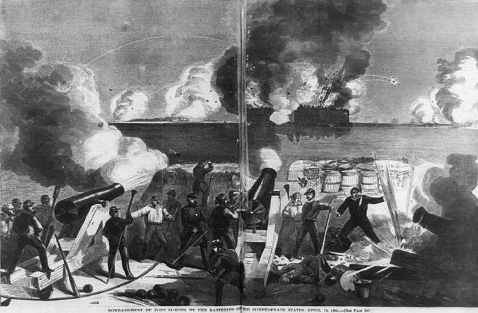 Attaque cofédérée de Fort Sumter en 1861