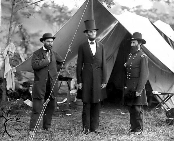 Lincoln à la Bataille d'Antietam