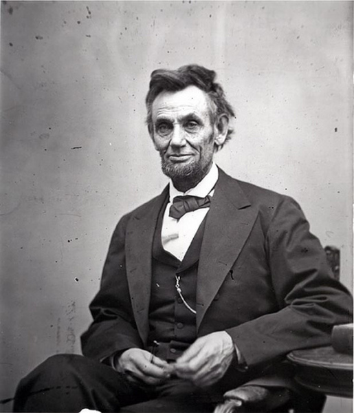 A. Lincoln sitting