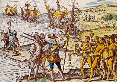 Colomb et les Indiens…